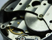 Clockworks. Grease the brilliant clockworks close up Royalty Free Stock Photo