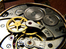 Clockworks. Internal mechanical clockworks old watch Royalty Free Stock Images