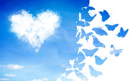 Clod heart Royalty Free Stock Images