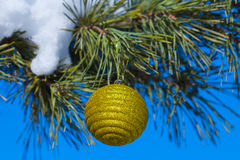Clodeup yellow ball Stock Image