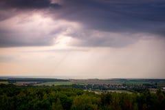 Clody himmel över Tyskland Royaltyfria Bilder