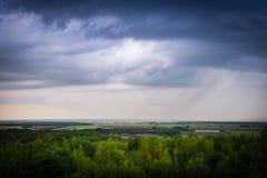 Clody himmel över Tyskland Royaltyfria Foton