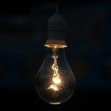 Cloe up lungsten filament light lamp Stock Image