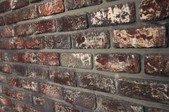 Cloe velho do fundo da textura da parede de tijolo vermelho acima Foto de Stock