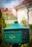 Cloes вверх почтового ящика на улице Стоковое Фото