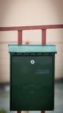 Cloes oben eines Briefkastens auf der Straße Lizenzfreies Stockfoto