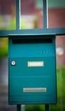 Cloes oben eines Briefkastens auf der Straße Lizenzfreies Stockbild