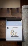 Cloes oben eines Briefkastens auf der Straße Lizenzfreie Stockfotografie