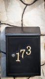 Cloes oben eines Briefkastens auf der Straße Stockbild