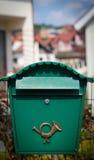 Cloes oben eines Briefkastens auf der Straße Lizenzfreie Stockfotos
