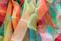 Cloes su struttura di tessuto variopinto, multi colore farbric immagini stock
