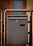Cloes up of a mailbox on the street Royalty Free Stock Images