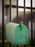 Cloes up skrzynka pocztowa na ulicie Zdjęcie Stock