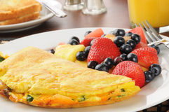 Cloesup d'omelette Photo stock