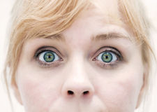 Cloesup dos olhos da mulher Imagens de Stock Royalty Free