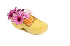 Clog with flowers from Holland Stock Photo