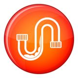 Clog in the pipe icon, flat style Royalty Free Stock Images