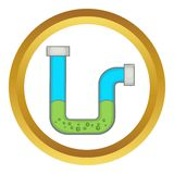 Clog in the pipe vector icon Royalty Free Stock Images