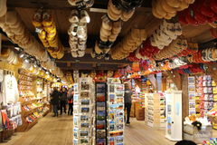 Clog wooden shoes store Stock Photo