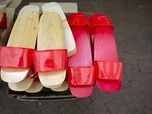 Clog, wooden-soled shoe stock photography