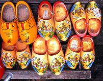 Cloggs for sale, Amsterdam. Royalty Free Stock Photo