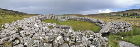 Cloghanmore is a megalithic chamber tomb Stock Image