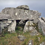 Cloghanmore is a megalithic chamber tomb Stock Images