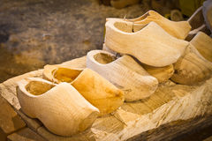 Clogs on the factory. Raw clogs on the factory royalty free stock photography