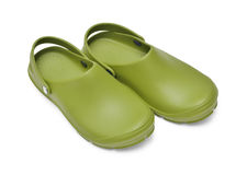 Crocs green Royalty Free Stock Image