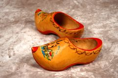 Clogs from Holland. Child's worn clogs circa 1970 Stock Photo
