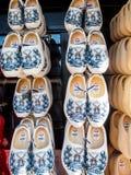 Clogs in souvenir shop in Keukenhof garden, Netherlands Stock Photos