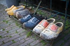 Clogs on the street. Eight Clogs on the street stock image