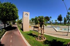 Clock in modern promenade -  Limassol, Cyprus Stock Images