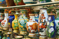 Cloisonné pots Royalty Free Stock Photos