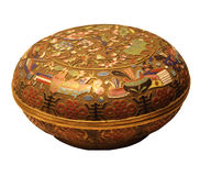 Cloisonne enamel round box Stock Images