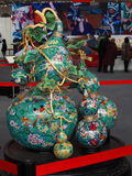 Cloisonne Gourd. Feb 2012, China Intangible Cultural Heritage Exhibition Royalty Free Stock Photography