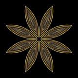 Cloisonne star mandala stock photo