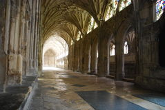 Cloister. The famous Cloister in Gloucester Cathedral, England (United Kingdom Royalty Free Stock Image