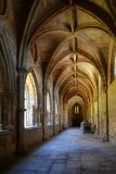 Cloister. Ancient cloister in a church. The shot has been taken in Portugal stock photography