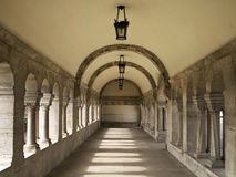Cloister. Cross-coat in a cloister in hungary Stock Image