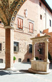 Cloister. An cloister in Siena city Royalty Free Stock Images