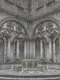 Cloister royalty free illustration