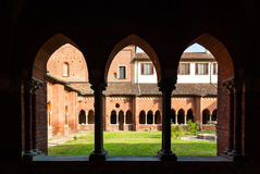 The cloister of the abbey of Chiaravalle in Milan Royalty Free Stock Photos