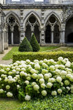Cloister of abbey in Soissons Royalty Free Stock Photo