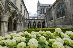 Cloister of abbey in Soissons Stock Image