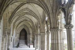 Cloister of abbey in Soissons Stock Images