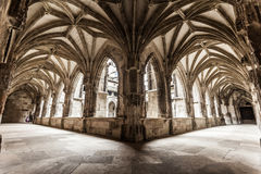 Cloister arches. Cloister arch perspective of Cahors Cathedral in France Stock Image