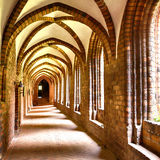 Cloister arches Stock Photography