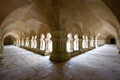 Cloister area surrounding the inner garden Stock Photos