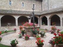 Cloister Basilica of San Francesco d`Assisi stock image